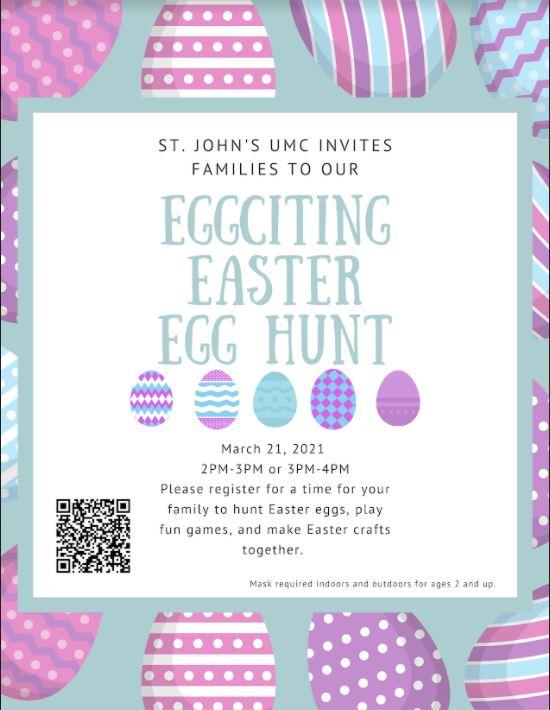 easter egg hung 2021